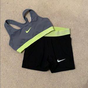 Nike Pro Sports Bra and Spandex Size XS